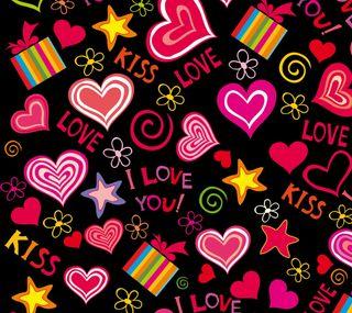 Обои на телефон поцелуй, цветы, сердце, подарок, любовь, красые, love