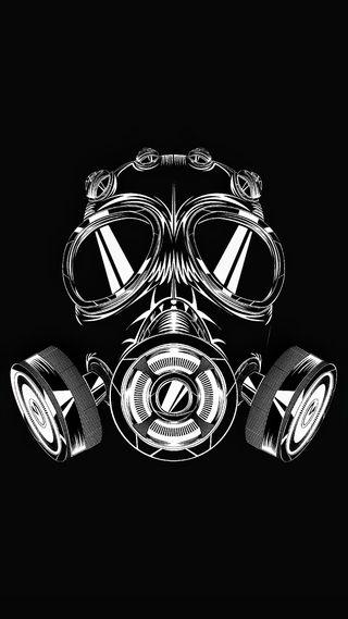 Обои на телефон маска, черные, газ, gas mask