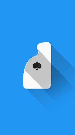 Обои на телефон туз, покер, плоские, синие, материал, карты, playing cards