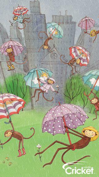 Обои на телефон полет, обезьяны, крикет, дети, весна, illustrations, flying monkeys, childrens