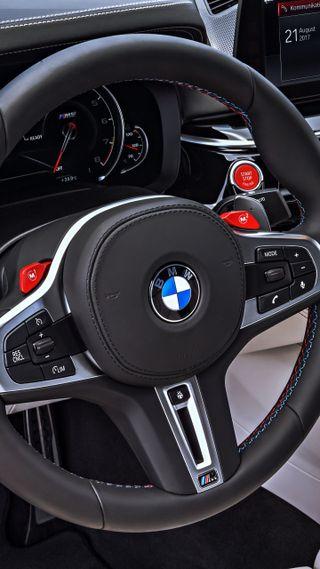 Обои на телефон роскошные, м5, колеса, интерьер, бмв, steering wheel, m power, luxury, instuments, f90, bmw