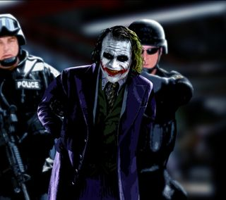 Обои на телефон полиция, темные, рыцарь, джокер, joker and police