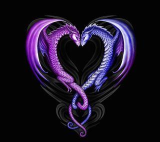 Обои на телефон сердце, любовь, дракон, абстрактные, love, dragon