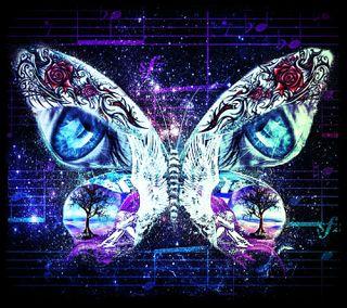 Обои на телефон коллаж, тату, дерево, глаза, бабочки, ангел, butterfly collage