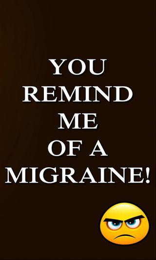 Обои на телефон цитата, поговорка, новый, крутые, комедия, знаки, забавные, remind, migraine