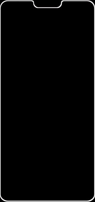 Обои на телефон черные, неоновые, грани, выемка