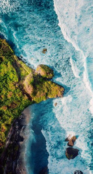 Обои на телефон формы, река, ты, синие, ремикс, падает, осень, море, вода