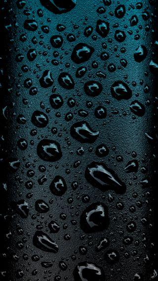 Обои на телефон black water blue, черные, синие, темные, вода, простые, дождь, капли, мокрые