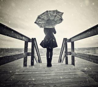 Обои на телефон дождь, девушки, грустные, амбрелла, sad girl in rain, in rain, girl with umbrella, girl in rain