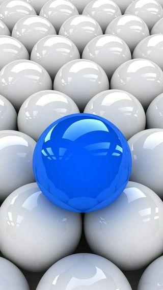 Обои на телефон шары, синие, белые