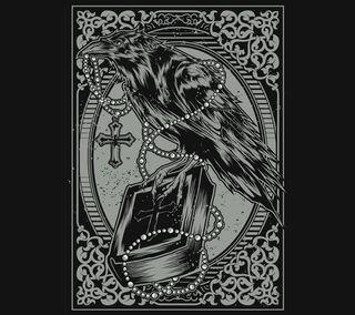 Обои на телефон библия, черные, тьма, страх, рисунки, дизайн, ворона, rosary
