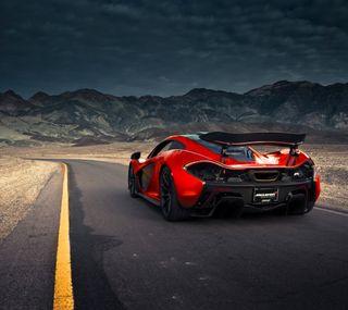 Обои на телефон скорость, машины, макларен, красые, дорога, mclaren p1