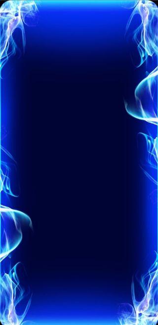 Обои на телефон огонь, цветные, синие