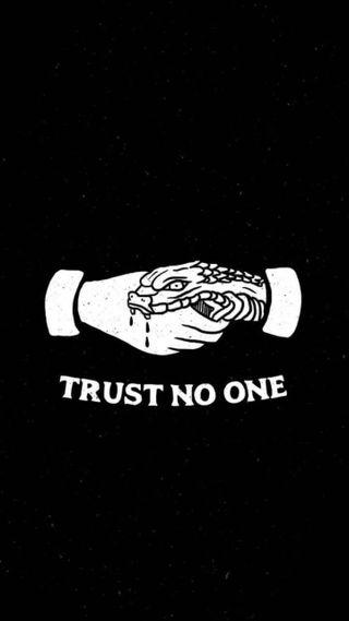 Обои на телефон доверять, темные, змея, trust no one, no one, handshake