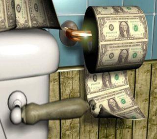 Обои на телефон доллары, бумага, забавные, абстрактные, toilet