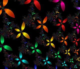 Обои на телефон цветные, фрактал, абстрактные