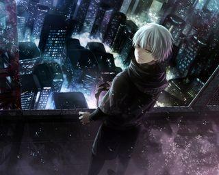 Обои на телефон токио, канеки, анимация, японские, упырь, город, аниме, tokyo ghoul city wp