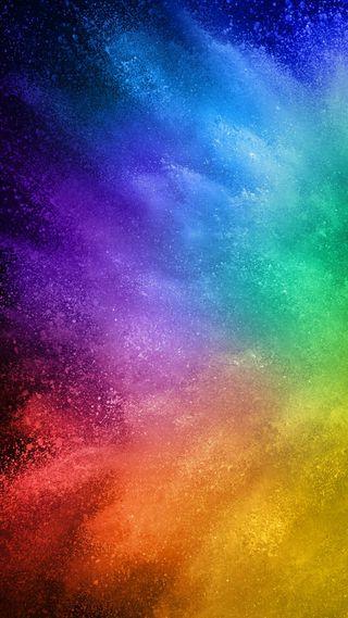 Обои на телефон брызги, цветные, радуга, взрыв