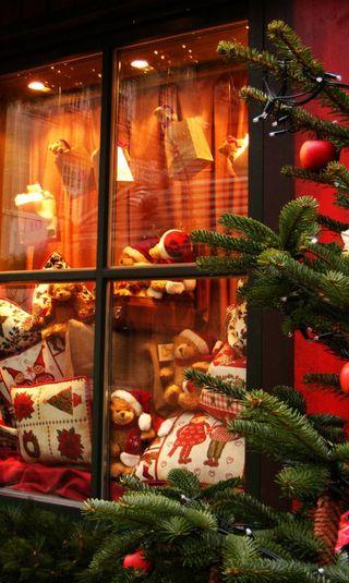 Обои на телефон подарок, счастливые, снег, рождество, зима, happy