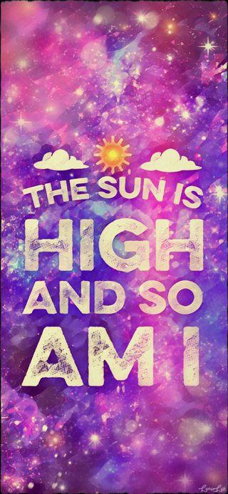 Обои на телефон высокий, цитата, солнце, милые, девчачие, галактика, блестящие, the sun is high, stoner, galaxy, 420