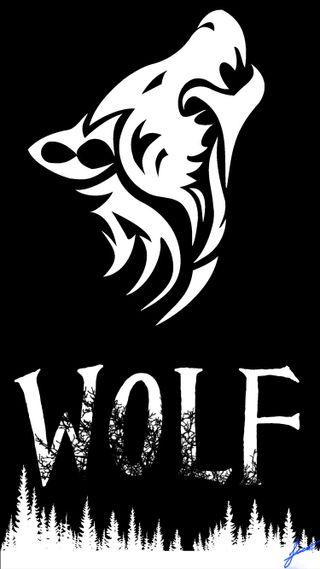 Обои на телефон черные, страшные, волк, белые, solid, siyah