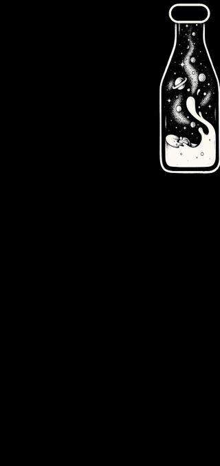 Обои на телефон бутылка, черные, темные, простые, небо, камера, грани, s10 plus, s10, camera cut out, bottle of sky