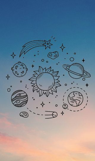 Обои на телефон солнечный, система, планеты