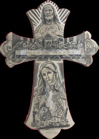 Обои на телефон крест, исус, mary, hail mary