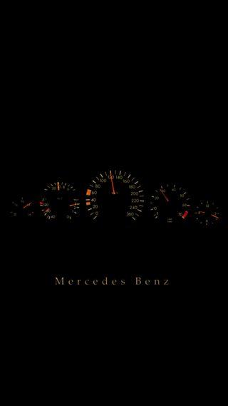 Обои на телефон скорость, мерседес, логотипы, speedo, mercedes, gauges, dash