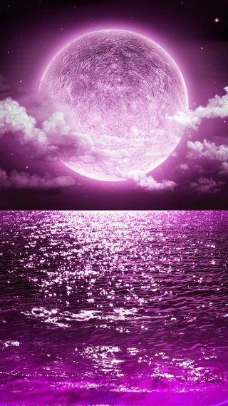 Обои на телефон темы, шторм, фиолетовые, туманность, море, млечный, лунный свет, луна, аврора, thunderstorm, purple moon