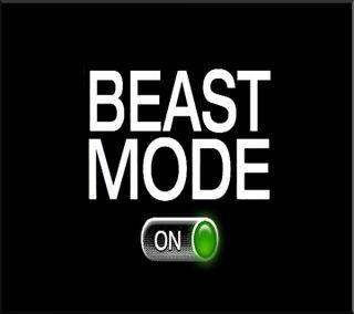 Обои на телефон зверь, цитата, поговорка, beast mode