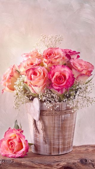 Обои на телефон винтаж, цветы, сердце, романтика, розы, розовые, любовь, love
