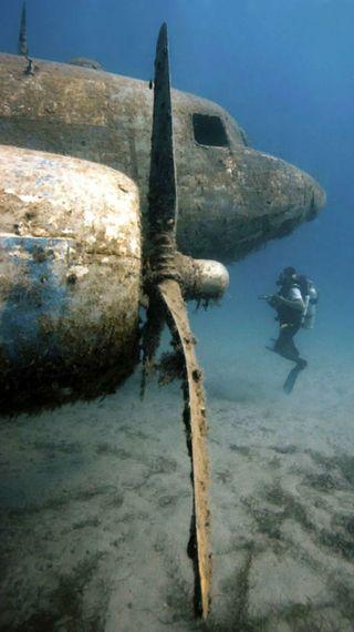 Обои на телефон подводные, простые, под, пляж, омг, океан, вода, wreckage, wreck, underwater - plain