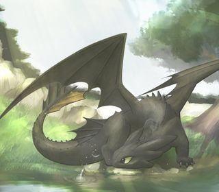 Обои на телефон ярость, твой, поезда, ночь, дракон, беззубик, night fury, how to train your dragon, dragon