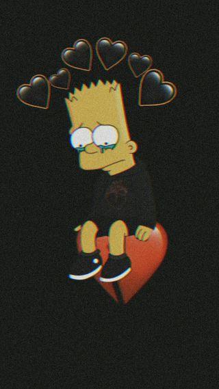 Обои на телефон симпсоны, сердце, плохой, любовь, грустные, барт, simpson sad, love, bart sad, bad