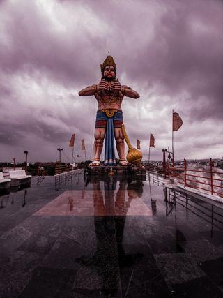 Обои на телефон хануман, индия, духовные, structure, hyderabad, hinduism