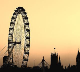 Обои на телефон колеса, лондон, глаза, ferris wheel