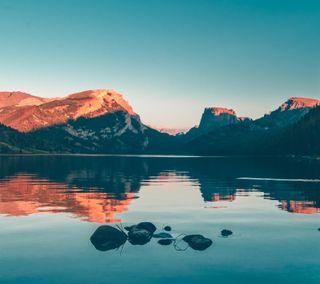 Обои на телефон природа, пейзаж, отражение, озеро, на улице, вода