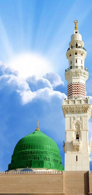 Обои на телефон изображения, мечеть, город, al-madina