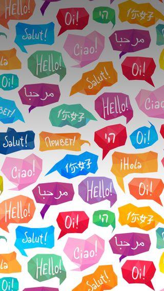 Обои на телефон привет, language, hello
