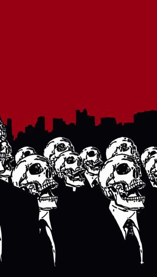 Обои на телефон череп, анонимус, skull anonymous, sgn, gfs