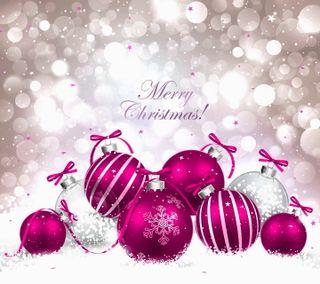 Обои на телефон шары, украшение, счастливое, рождество, новый