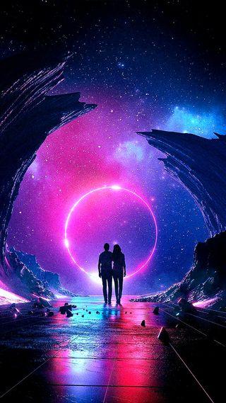 Обои на телефон бесконечность, стена, звезды, галактика, вселенная, wall 000, infinity, galaxy