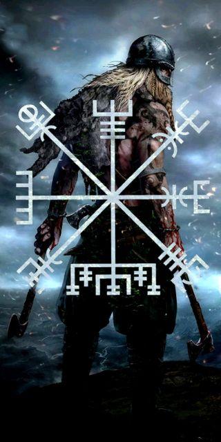 Обои на телефон викинг, viking-vegviser, vegviser, norse, nordic