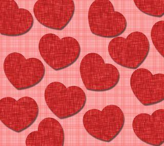 Обои на телефон ткани, сердце, любовь, каникулы, день, love, fabric hearts