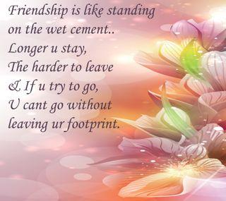 Обои на телефон дружба, цитата, цветы, текст, любовь, друзья, note, love, footprint