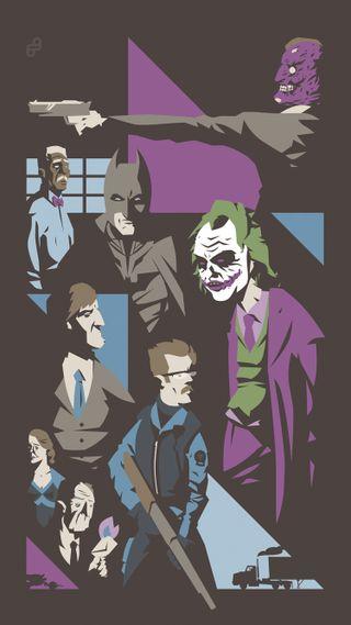 Обои на телефон рыцарь, фильмы, темные, рисунок, дизайн, бэтмен, dc