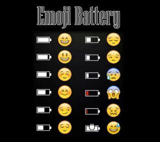 Обои на телефон эмоджи, батарея, wallpapet, emoji battery