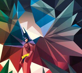 Обои на телефон многоугольник, цветные, бэтмен, poligon, batman color polygon