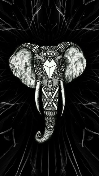 Обои на телефон слон, ганеша, амолед, абстрактные, amoled